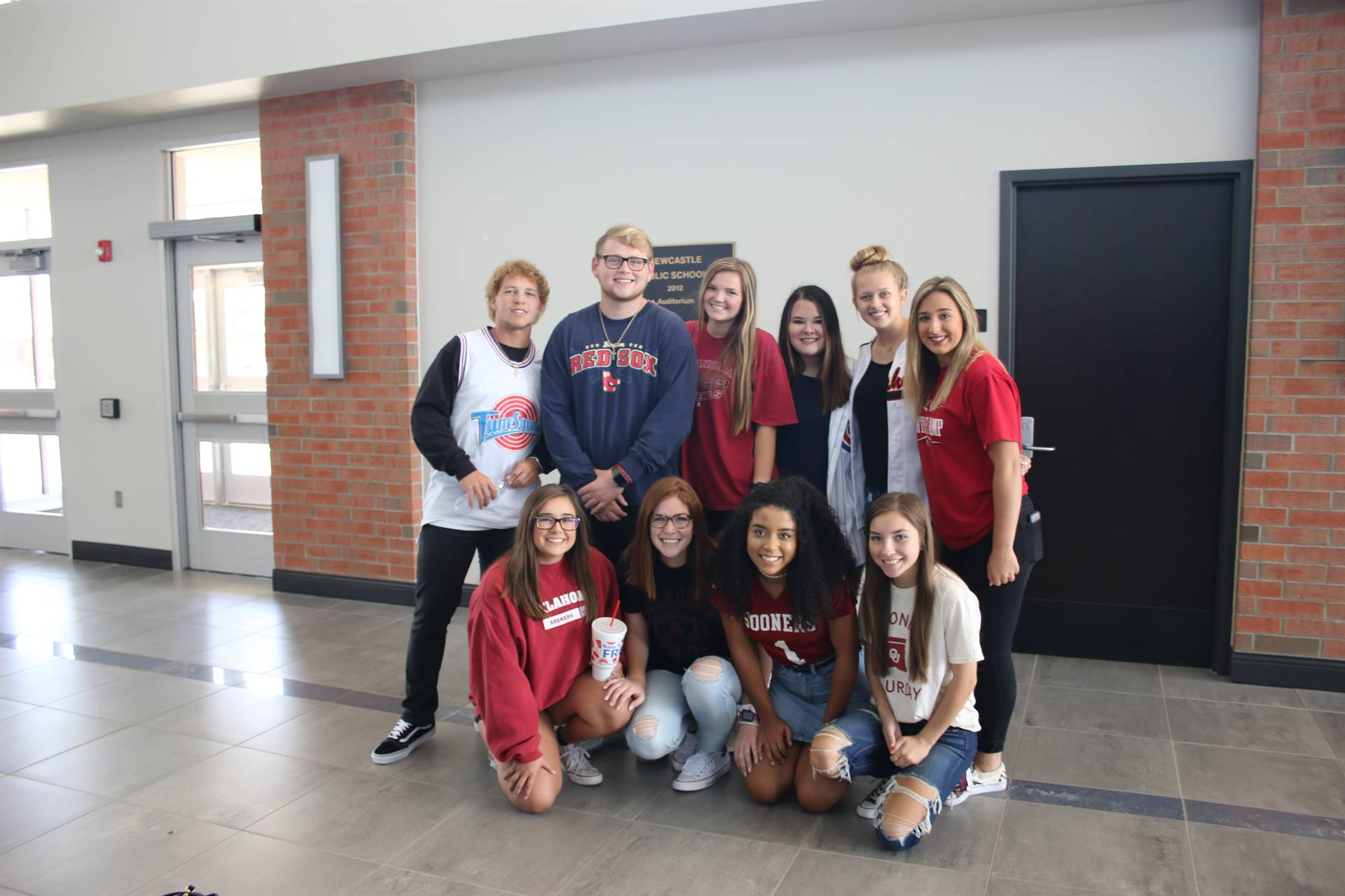 Spirit Day students
