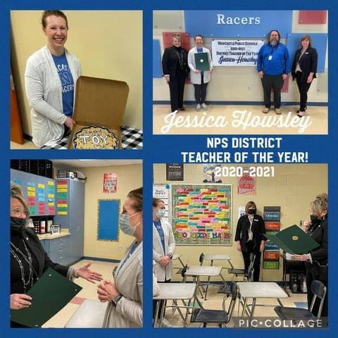 Mrs. Howsley:  Teacher of Year